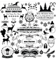 Set of christmas decorations and labels vector