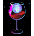 World in wineglass vector image