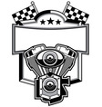 motorbike club badge vector image