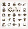 Coffee collection icons set vector image vector image