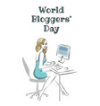 world bloggers day vector image