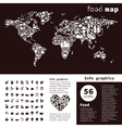 Food map2 vector image vector image