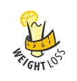 logo juice for weight loss vector image