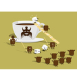 sugar coffee vector image
