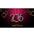 2016 Happy New Year and Merry Christmas Background vector image