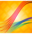 Abstract mosaic lines vector image