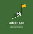 Corner Kick vector image
