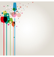 Lets party background vector image