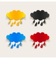 realistic design element cloud rain vector image