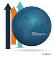 Modern blue globe vector image