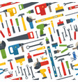 different tools seamless pattern vector image vector image