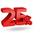 2875 25 percent vector image