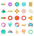 interface design icons set cartoon style vector image