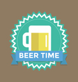 Label with text beer time vector image vector image