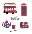 London style symbols vector image