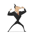 Strong businessman concept vector image
