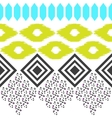 Geometric ethnic border pattern Ikat rhombus and vector image