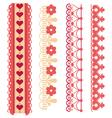 Heart decorative trim vector image