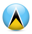 Round glossy icon of saint lucia vector image vector image