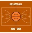 Basketball court the plan field Sports ball flat vector image