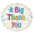 big thank you greeting card vector image