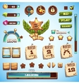 Big set of cartoon style elements for interface vector image
