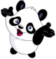 cheerful baby panda vector image