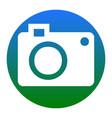 digital camera sign white icon in bluish vector image