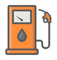 gas station filled outline icon petrol and fuel vector image