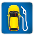 Gas Station Road Sign vector image