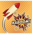 Kaboom explosion pop art comic design vector image