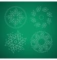 Landscape design emblem vector image
