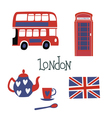 London style symbols vector image