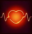 neon heart frame vector image
