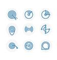 Trendy circle icon set Design elements vector image