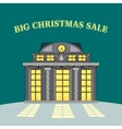Big Christmas Sale Glowing Shop Store vector image