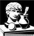 Apollo head jug and brush vector image vector image