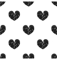 Heart icon in black style isolated on white vector image