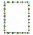 Paperdolls border vector image vector image