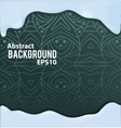 Abstract background with pattern and liquid frame vector image vector image