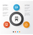 exploration icons set collection of guide vector image
