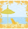 Exotic landscape beach vector image