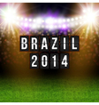 Brazil 2014 football poster Stadium background and vector image