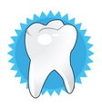 tooth background vector image vector image