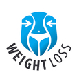 logo weight loss waist vector image vector image