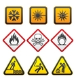 warning symbols  hazard signsthird set vector image