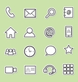 communication sticker icons vector image
