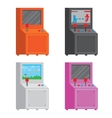 Pixel art style arcade game cabinet isolated vector image vector image