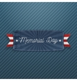 Memorial Day greeting Banner with Text vector image