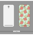 Phone Cover Roses On Blue vector image